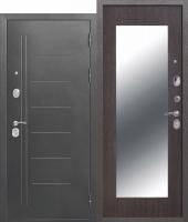 Дверь 10 см Троя Серебро МАКСИ зеркало Венге