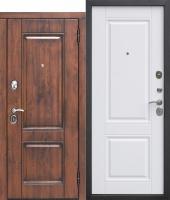 Входная дверь 9,5 см ВЕНА Vinorit Патина МДФ/МДФ Белый матовый