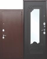 Входная дверь с зеркалом Ампир Венге