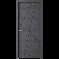 Дверь Паутинка темный бетон