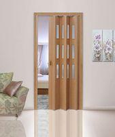 Дверь-гармошка дуб (остекленная)
