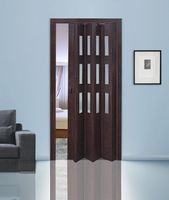 Двери гармошки венге (остекл)