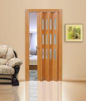 Дверь складная орех (остекл)