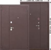Двустворчатая дверь GARDA Металл/Металл 1200мм, 1300мм