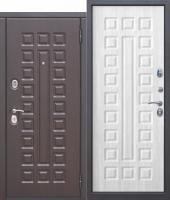 Дверь 10 см МОНАРХ МДФ/МДФ Белый ясень с МДФ панелями