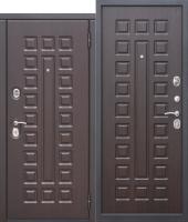 Входная дверь 10 см МОНАРХ МДФ/МДФ Венге с МДФ панелями