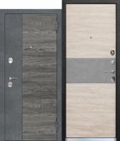 Дверь 9,5 см ОРЛАНДО Бетон графит, Вяз вековой/Дуб белый,бетон
