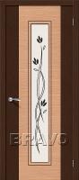 Дверь Этюд Ф-27 (Венге)/Ф-01 (Дуб)