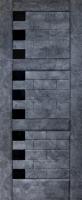 Дверь межкомнатная темный бетон