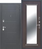 Дверь 7,5 см GARDA Серебро Зеркало Фацет ВЕНГЕ